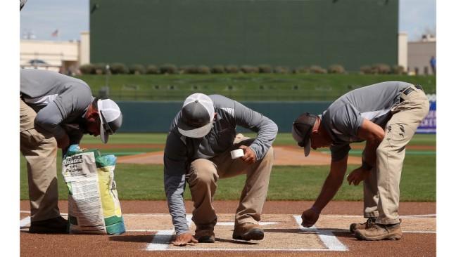 Giants Rangers Spring Baseball