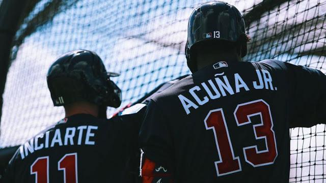 Ronald Acuna y Ender Inciarte